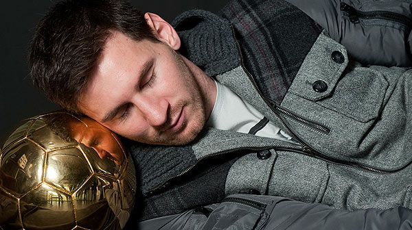 Entrevista amb Leo Messi, jugador del FC Barcelona, despr�s de guanyar la quarta Pilota d'Or.