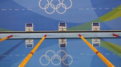 El Estadio Acu�tico Ol�mpico de R�o espera a los paral�mpicos.