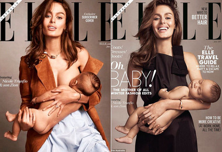 Las dos portadas de la revista 'Elle'.
