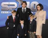 Los Beckham, en una imagen del 2010, a�n sin la peque�a Harper, que naci� en el 2011.