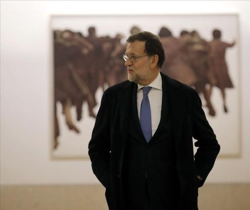 """Rajoy aprovecha para pedir un Gobierno """"amplio"""" que haga frente al secesionismo"""