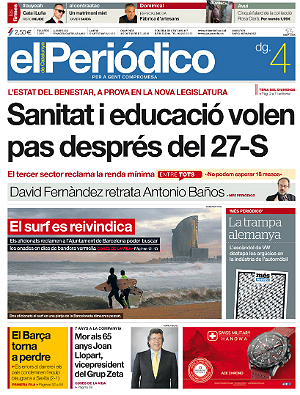 La portada d'EL PERI�DICO