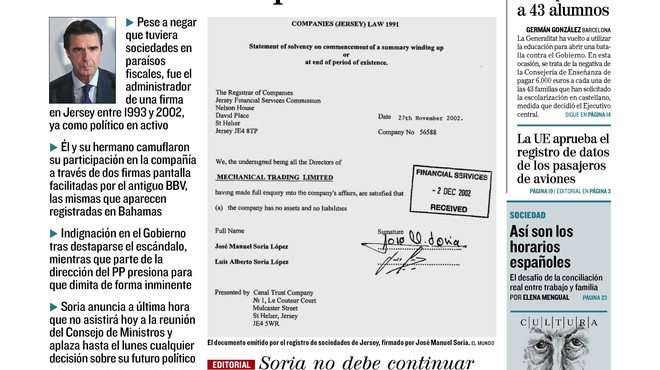 Rajoy deixa caure Soria; Marhuenda ja té placa de poli