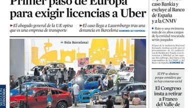 Rajoy no rebrà Puigdemont a la Moncloa; la infanta Cristina torna a la família ('La Razón')