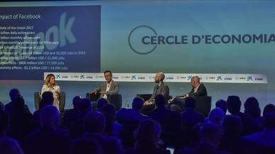 Coloquio sobre perspectivas eimpactos economicos y sociales en las Jornadas del Cercle d'Economia en Sitges.