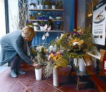Ofertas en la floristería Violetes del Bosc durante la Opportunity Week del 2011.