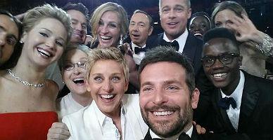La autofoto de EllenDeGeneres, la más retuiteada de la historia