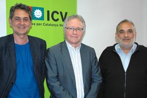 Moreno, Marlés i Calvo en la presentació de la nova estructura del grup dICV a Sabadell