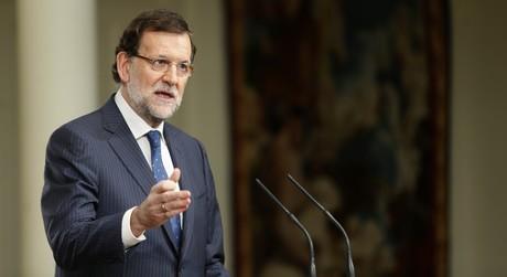 El presidente del Gobierno, Mariano Rajoy, durantesu balance del primer semestre del a�o.