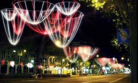 Imagen virtual de las luces de Navidad del 2014 en el paseo de Gr�cia.