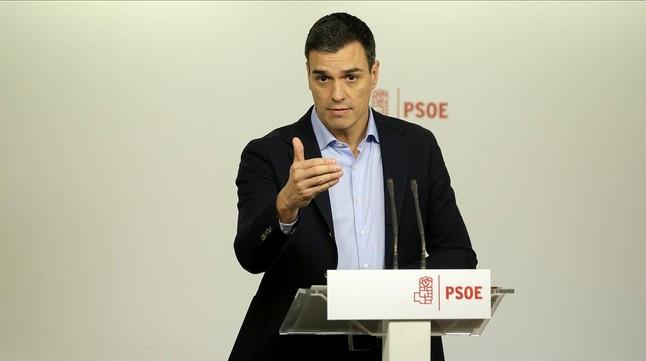 Pedro Sánchez, el pasado 11 de enero en la sede del PSOE.