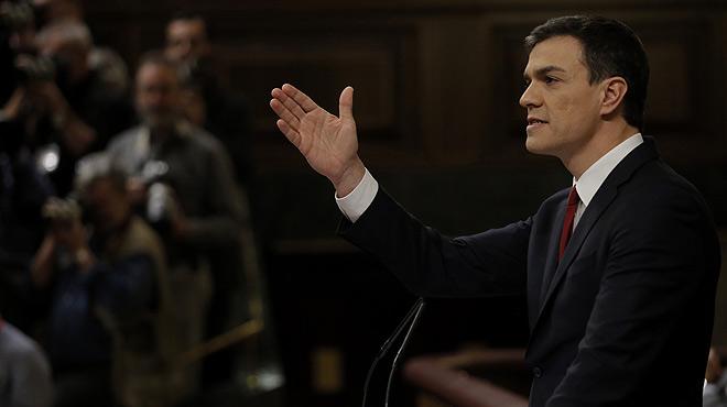 Pedro Sánchez se refiere a Catalunya en su discurso de investidura