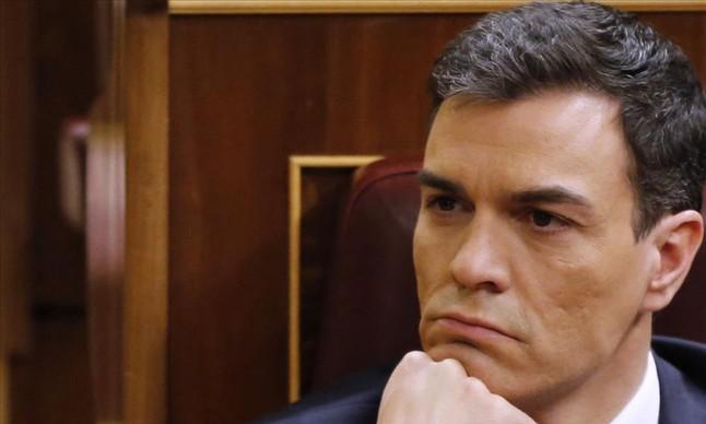 Sánchez, el pasado viernes en el Congreso, durante su fallida investidura.