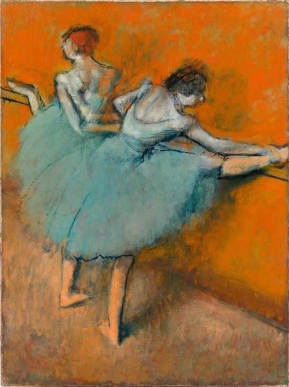Bailarinas en la barra, de Degas, en CaixaForum.