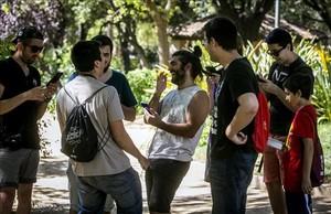 Grupo de fans de Pokemon Go en Barcelona