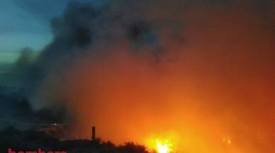 Un incendi amb diversos focus crema una zona forestal de Tortosa