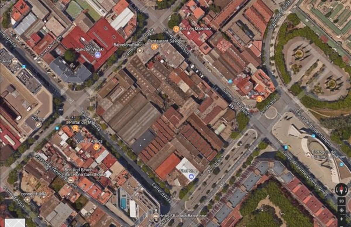 dcaminal39281344 imagen del google maps de la isla del poble nou de las calle170713125652