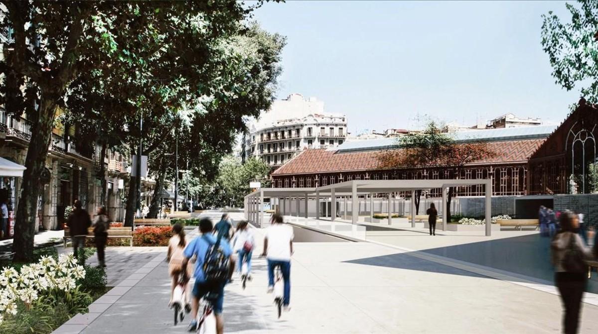 Representación del aspecto final de la zona en la que se van a desarrollar las obras.