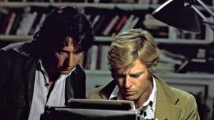 Dustin Hoffman y Robert Redford, en Todos los hombres del presidente