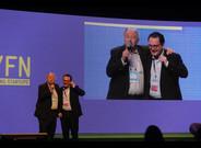 Aleix Valls y Yossi Vardí en la inauguración del Four Years From Now.