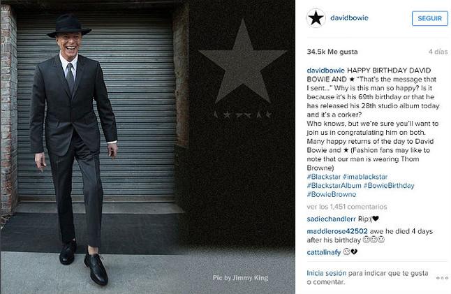 La �ltima foto de David Bowie