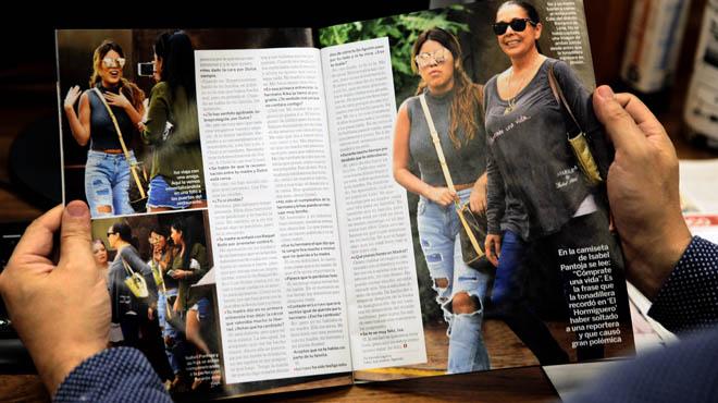 Isabel Pantoja en Perú con una camiseta muy especial