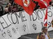 Roma es manifesta a pau a favor i en contra de la UE