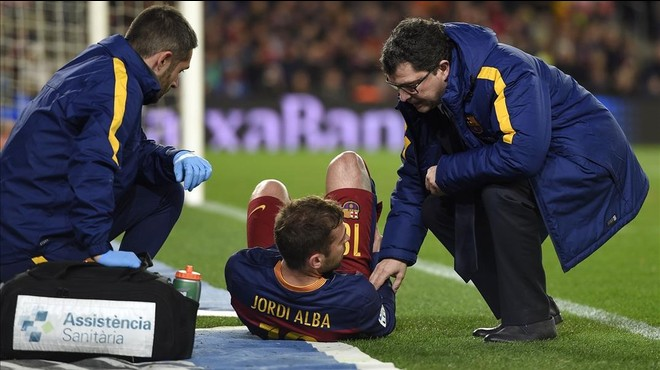 Jordi Alba estarà de baixa 10 dies