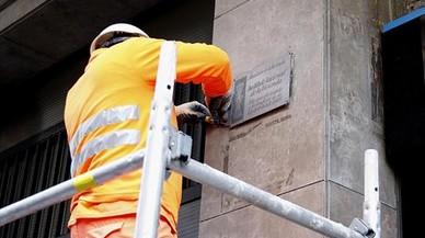 Sant Boi retira las placas franquistas de sus calles