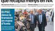 'Espanya és el país de la UE que recapta menys en IVA', a la portada d'EL PERIÓDICO
