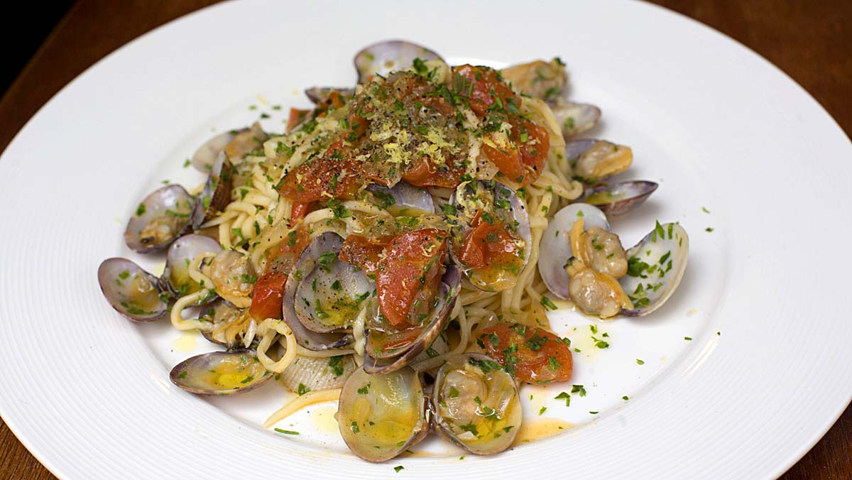 Restaurante Il Birrino: receta Espaguetis con almejas