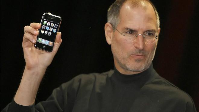 Steve Jobs, en la presentación del primer iPhone, en el 2007.