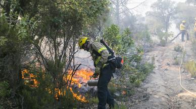Així es combat el foc al bosc