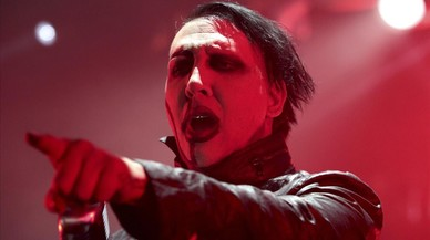 Marilyn Manson, herido leve durante un concierto
