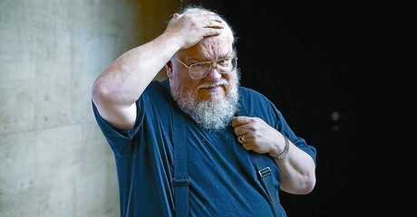 El escritor de gnero fantstico George R. R. Martin, ayer, en el CCCB..