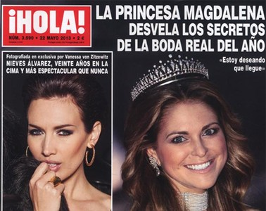 La princesa Magdalena de Suecia protagoniza la portada de la revista Hola! 
