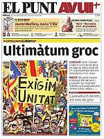 La portada de 'El Punt-Avui'.
