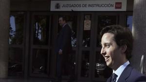 El pequeño Nicolás a las puertas de los juzgados en Madrid, donde ha declarado este lunes 21 de septiembre.