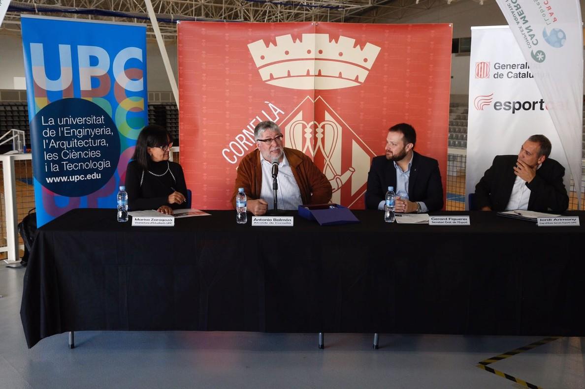 Presentación de la edición 33 de los Campeonatos de Catalunya Universitarios y de Cornellà como Vila Esportiva Universitària 2018, este martes en la ciudad del Baix Llobregat.