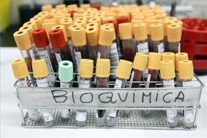 Muestras de sangre para ser analizadas