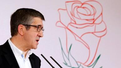 Patxi López es presenta com el candidat de la unitat del PSOE