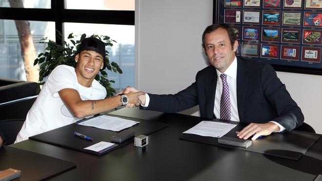 El contracte de Neymar, en PDF