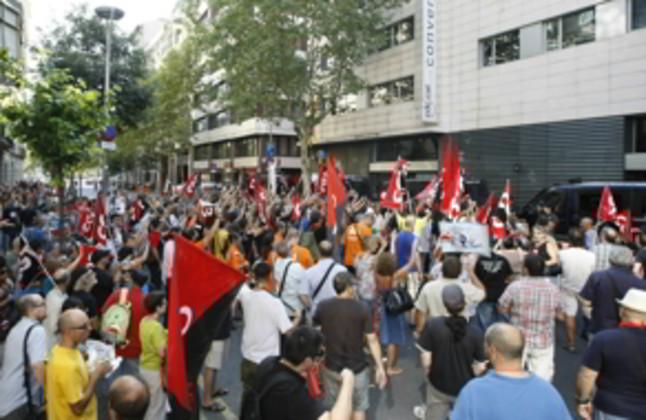 400.000 personas plantan cara al hachazo en una manifestación unitaria en Barcelona