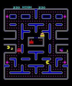Clásico 8 Una pantalla del popular 'Comecocos' (Pacman).
