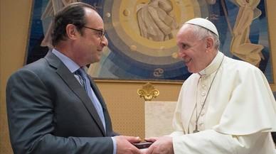 Llarga reunió entre Hollande i el papa Francesc