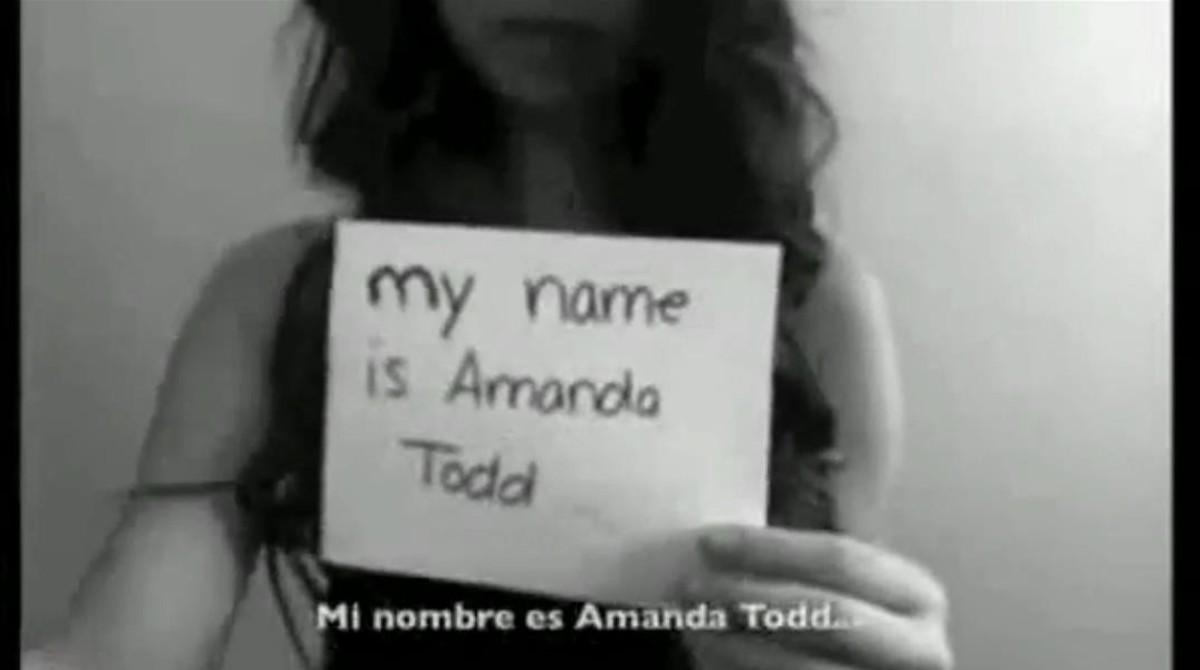 Inicio del v�deo de Amanda Todd narrando su historia de ciberacoso.