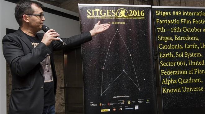 �ngel Sala, en la presentaci�n del cartel de la 49� edici�n del Festival de Sitges.