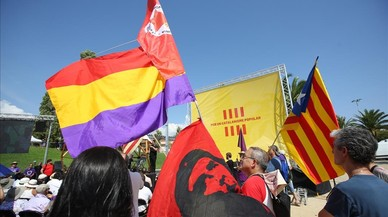 """En Comú Podem celebra a soles la seva Diada per desmarcar-se de les """"presses"""" del procés"""