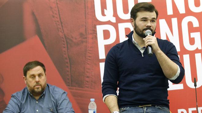 Rufián i Junqueras prometen afaitar-se la barba si ERC guanya a Catalunya