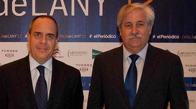 Alfredo Vila, director general de Citroën España y Luis Porro, director de comunicación del fabricante de vehículos.